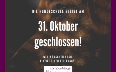 Feiertag – Hundeschule geschlossen