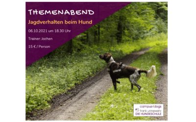 Themenabend: Jagdverhalten beim Hund